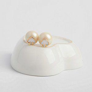 Kate Spade Shell Peach Heart Floating Earrings